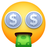 Money-Mouth Face on Facebook 3.1