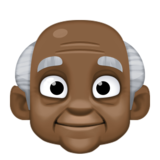 Old Man: Dark Skin Tone on Facebook 3.1