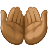 Palms Up Together: Medium-Dark Skin Tone on Facebook 3.1