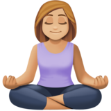 Person in Lotus Position: Medium-Light Skin Tone on Facebook 3.1