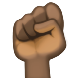 Raised Fist: Dark Skin Tone on Facebook 3.1
