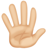 Hand With Fingers Splayed: Medium-Light Skin Tone on Facebook 3.1