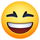 Grinning Squinting Face on Facebook 3.1