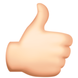 Thumbs Up: Light Skin Tone on Facebook 3.1