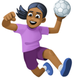 Woman Playing Handball: Medium-Dark Skin Tone on Facebook 3.1