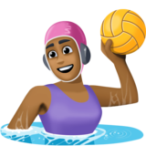 Woman Playing Water Polo: Medium-Dark Skin Tone on Facebook 3.1