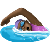 Woman Swimming: Dark Skin Tone on Facebook 3.1
