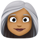Woman: Medium-Dark Skin Tone, White Hair on Facebook 3.1