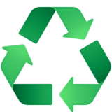 Recycling Symbol on Facebook 4.0