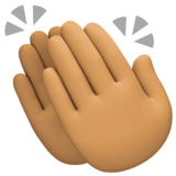 Clapping Hands: Medium Skin Tone on Facebook 4.0