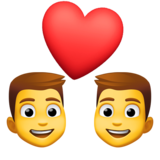Couple with Heart: Man, Man on Facebook 4.0