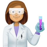 Woman Scientist: Medium Skin Tone on Facebook 4.0
