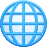 Globe with Meridians on Facebook 4.0