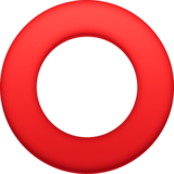 Hollow Red Circle on Facebook 4.0