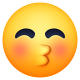 Kissing Face with Closed Eyes on Facebook 4.0