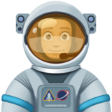 Man Astronaut: Medium Skin Tone on Facebook 4.0