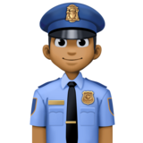 Man Police Officer: Medium-Dark Skin Tone on Facebook 4.0
