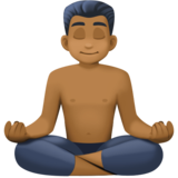 Man in Lotus Position: Medium-Dark Skin Tone on Facebook 4.0