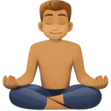 Man in Lotus Position: Medium Skin Tone on Facebook 4.0