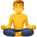 Man in Lotus Position on Facebook 4.0