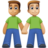 Men Holding Hands: Medium Skin Tone, Medium-Light Skin Tone on Facebook 4.0