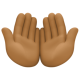 Palms Up Together: Medium-Dark Skin Tone on Facebook 4.0