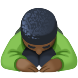 Person Bowing: Dark Skin Tone on Facebook 4.0