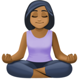 Person in Lotus Position: Medium-Dark Skin Tone on Facebook 4.0