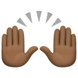 Raising Hands: Dark Skin Tone on Facebook 4.0