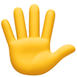Hand with Fingers Splayed on Facebook 4.0