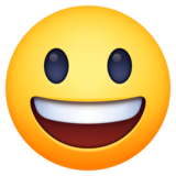Grinning Face with Big Eyes on Facebook 4.0