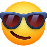 Smiling Face With Sunglasses on Facebook 4.0