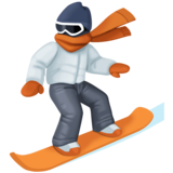 Snowboarder: Light Skin Tone on Facebook 4.0