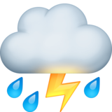 Cloud with Lightning and Rain on Facebook 4.0