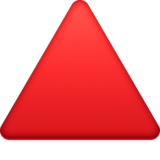 Red Triangle Pointed Up on Facebook 4.0