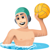 Person Playing Water Polo: Light Skin Tone on Facebook 4.0