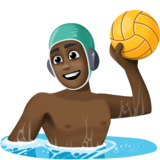 Person Playing Water Polo: Dark Skin Tone on Facebook 4.0