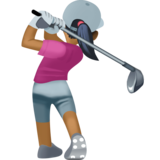 Woman Golfing: Medium-Dark Skin Tone on Facebook 4.0