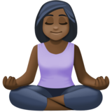 Woman in Lotus Position: Dark Skin Tone on Facebook 4.0