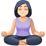 Woman in Lotus Position: Light Skin Tone on Facebook 4.0