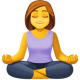 Woman in Lotus Position on Facebook 4.0