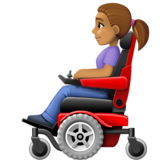 Woman in Motorized Wheelchair: Medium Skin Tone on Facebook 4.0