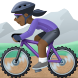 Woman Mountain Biking: Dark Skin Tone on Facebook 4.0