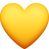 Yellow Heart on Facebook 4.0