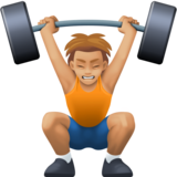 Person Lifting Weights: Medium-Light Skin Tone on Facebook 13.0