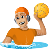 Person Playing Water Polo: Medium-Light Skin Tone on Facebook 13.0