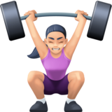 Woman Lifting Weights: Light Skin Tone on Facebook 13.0