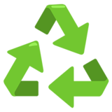 Recycling Symbol on Messenger 1.0