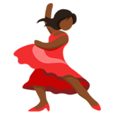 Woman Dancing: Medium-Dark Skin Tone on Messenger 1.0