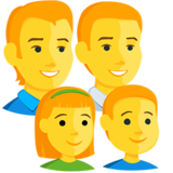 Family: Man, Man, Girl, Boy on Messenger 1.0